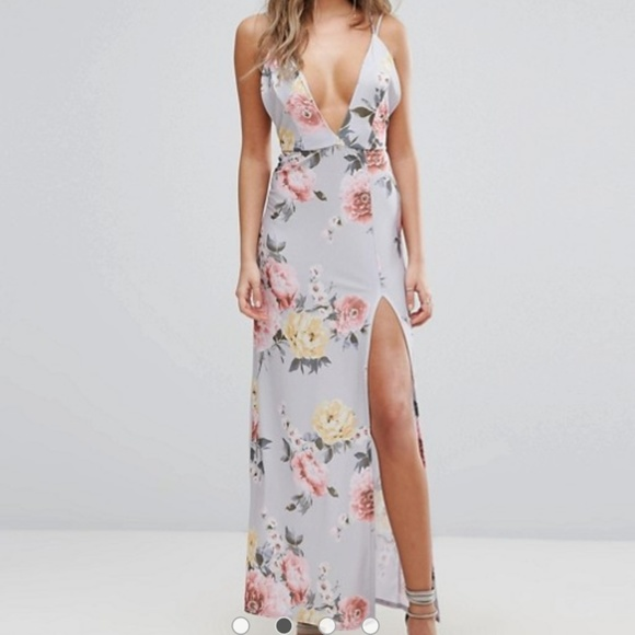 207ce46bfae4 ASOS Dresses | S Boohoo Cross Back Floral Print Maxi Dress | Poshmark
